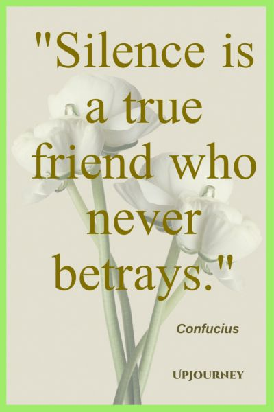 Silence is a true friend who never betrays. - Confucius #quotes #silence #peace