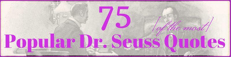 Dr Seuss Quotes Cover