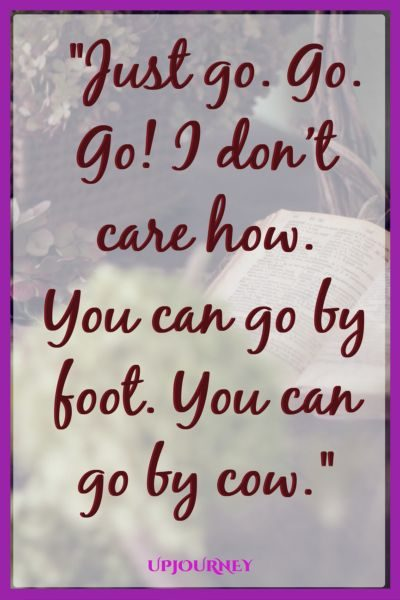 Just go. Go. Go! I don't care how. You can go by foot. You can go by cow. #quotes #DrSeuss #books #author #storytelling