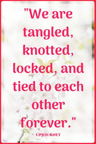 We are tangled, knotted, locked, and tied to each other forever. #quotes #love #romantic #relationship