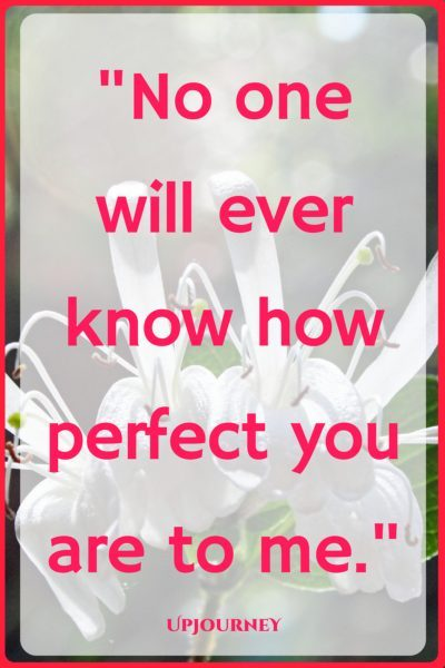 No one will ever know how perfect you are to me. #quotes #love #romantic #relationship