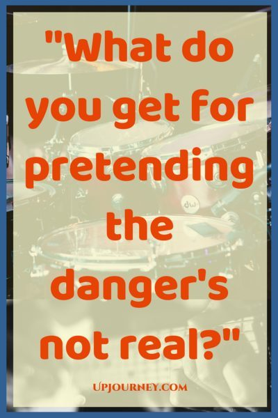 What do you get for pretending the danger's not real. #quotes #PinkFloyd #music