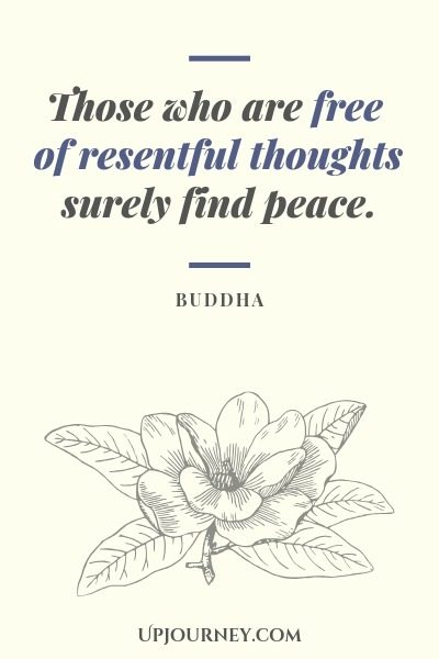 Those who are free of resentful thoughts surely find peace - Buddha. #quotes #peace