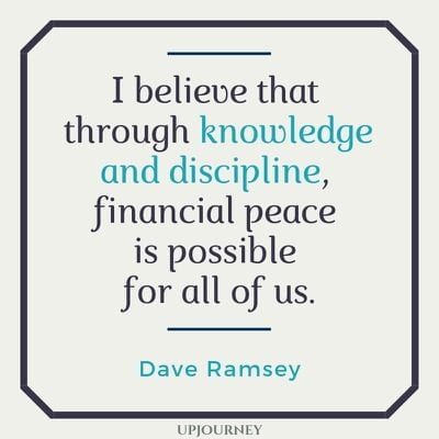 I believe that through knowledge and discipline, financial peace is possible for all of us - Dave Ramsey. #quotes #finances #knowledge #discipline #financial #peace
