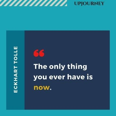 The only thing you ever have is now - Eckhart Tolle. #quotes #now #only