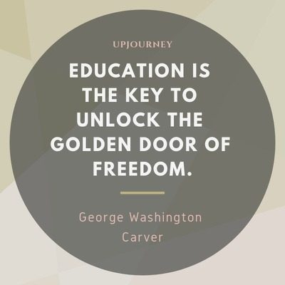 Education is the key to unlock the golden door of freedom - George Washington Carver. #quotes #education #key #door #freedom