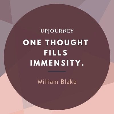One thought fills immensity - William Blake. #quotes #imagination #thought #immensity