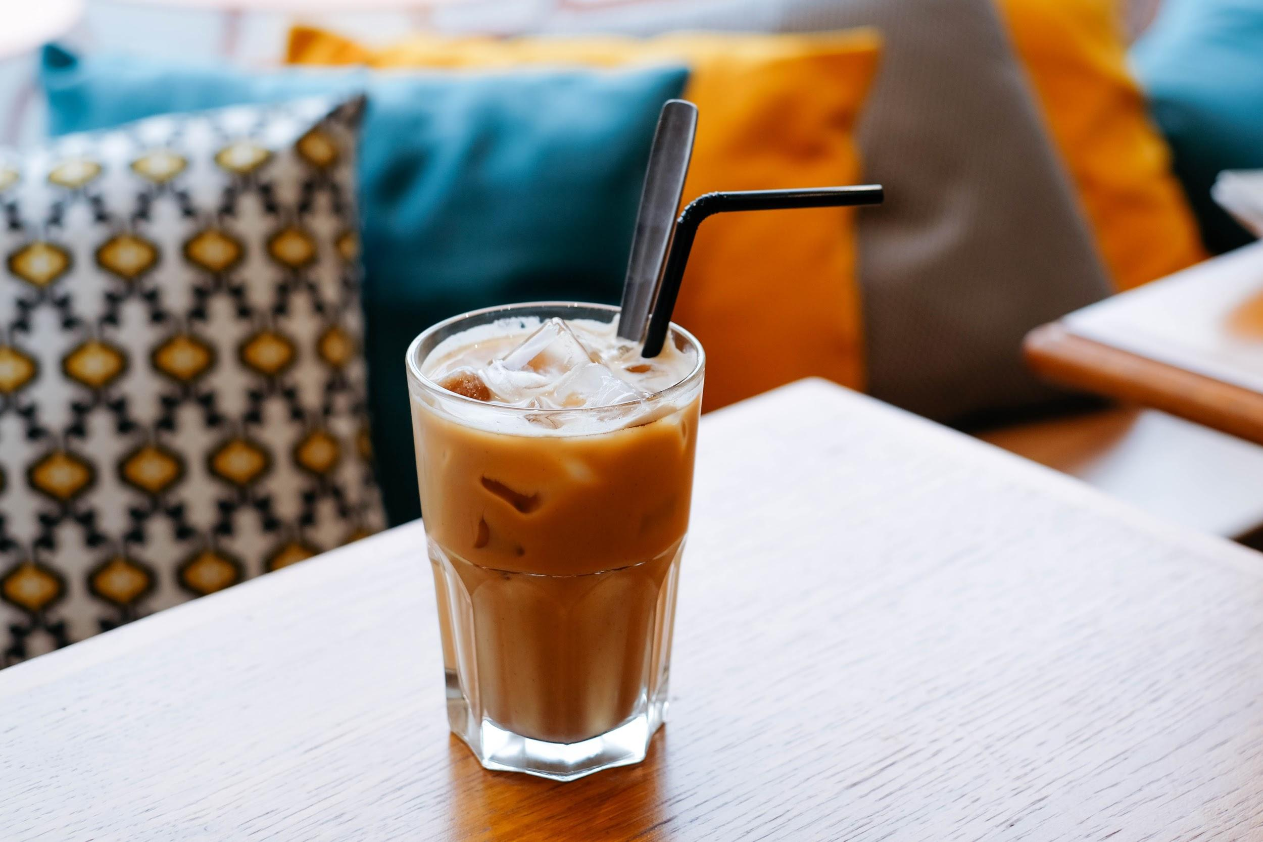 coffee with straw