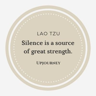 Silence is a source of great strength - Lao Tzu. #quotes #silence #source #great #strength