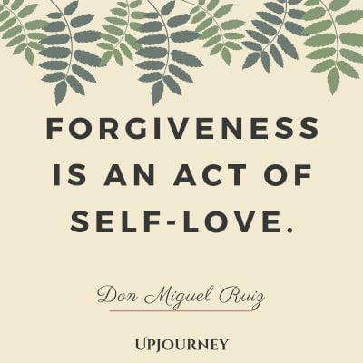 Forgiveness is an act of self-love - Don Miguel Ruiz. #quotes #themasteryoflove #forgiveness #selflove