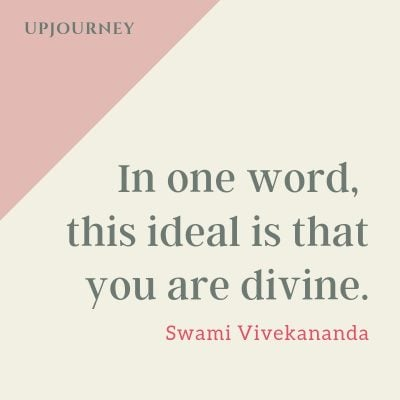 In one word, this ideal is that you are divine - Swami Vivekananda. #quotes #self #confidence #ideal #divine