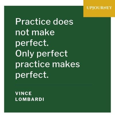Practice does not make perfect. Only perfect practice makes perfect - Vince Lombardi. #quotes #coaching #leadership #practice #perfect