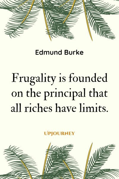 Frugality is founded on the principal that all riches have limits. #edmundburke #quotes #frugality