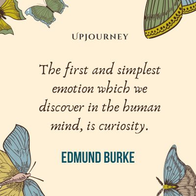 The first and simplest emotion which we discover in the human mind, is curiosity. #edmundburke #quotes #curiosity #human #emotion