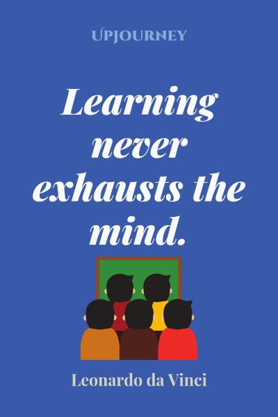 """Learning never exhausts the mind."" #leonardodavinci #quotes #learning"