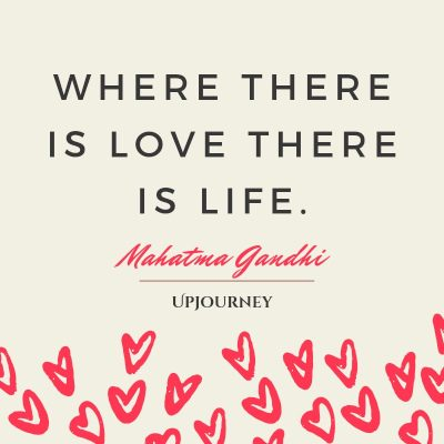 """Where there is love there is life."" #mahatmagandhi #quotes #life"