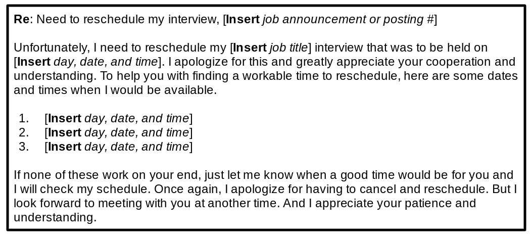 reschedule interview template 1