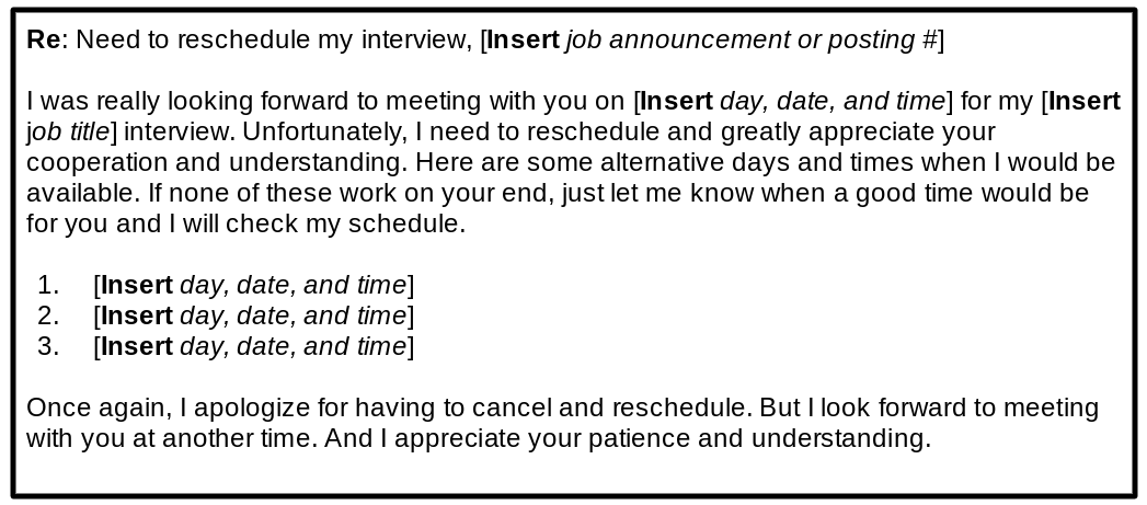 reschedule interview template 2