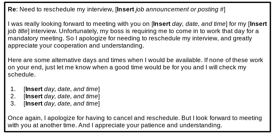 reschedule interview template 3