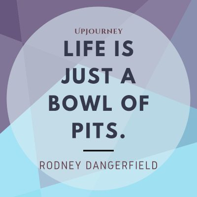 """""""Life is just a bowl of pits."""" #rodneydangerfield #quotes #life"""