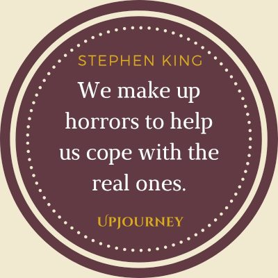 """We make up horrors to help us cope with the real ones."" #stephenking #quotes #horror"