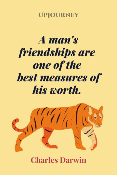 A man's friendships are one of the best measures of his worth. #charlesdarwin #quotes #friendship