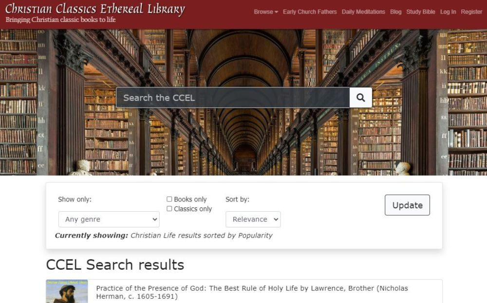 Christian Classical Ethereal Library read free books biblical commentary works