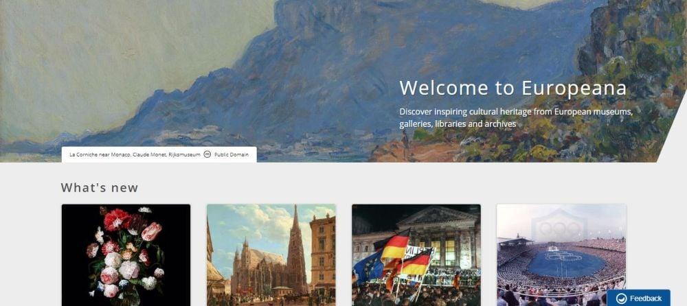 Europeana free books, artwork, artifacts, films, music