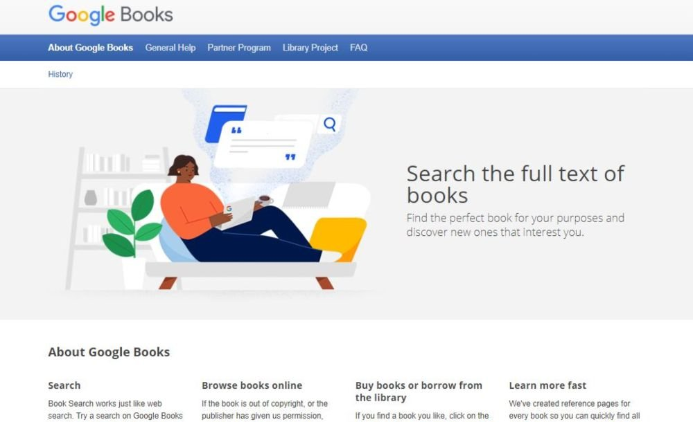 Google Book Search biography, business, history, technology, children books