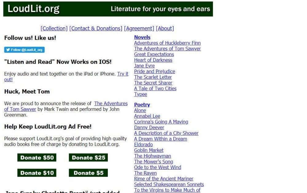 Loud Lit listen free audiobooks