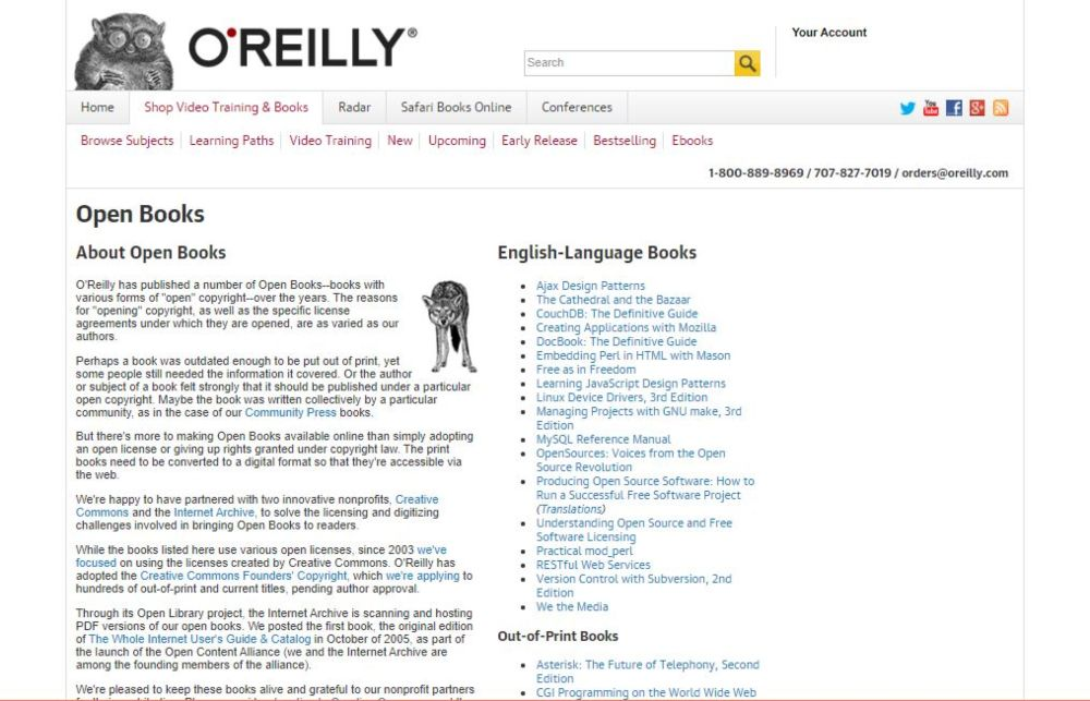 OReilly Open Books Project download technical audiobooks, programming language