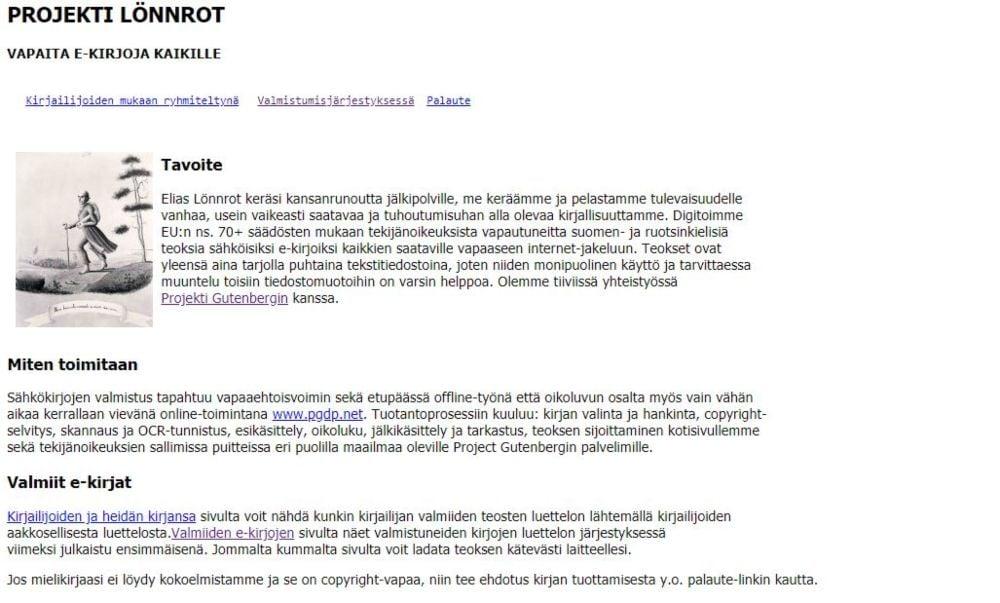 Projekti Lonnrot download free finnish, swedish ebooks