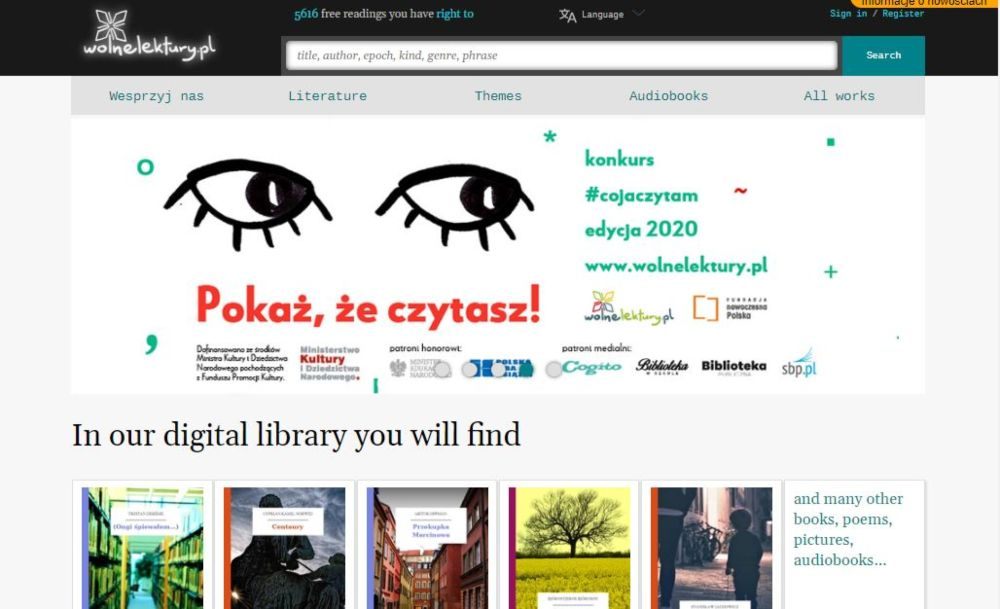 Wolnelektury download free polish ebooks, poems, audiobooks