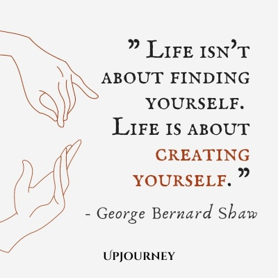 Life isn't about finding yourself. Life is about creating yourself. – George Bernard Shaw #business #life